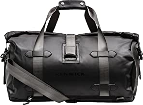 Renwick Travel Roll Top Duffle with Backpack Straps & Laptop Sleeve (Black)