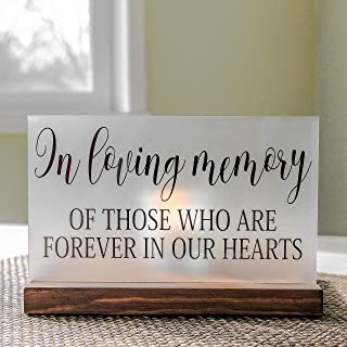 Wedding Memorial Candle In Loving Memory 5x8 Acrylic Sign