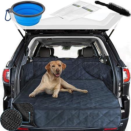 Smartpeas Kofferraumdecke Für Hunde Xxl Kofferraumschutz Für Jedes Auto Anti Rutschbeschichtung Robuste Gesteppte Hundedecke Mit Seitenschutz 185 105 36 Cm Auto