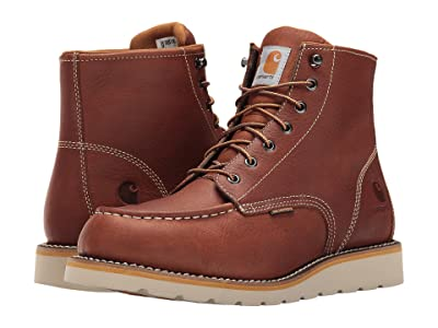 Carhartt 6-Inch Non-Safety Toe Wedge Boot (Tan Oil Tanned Leather) Men