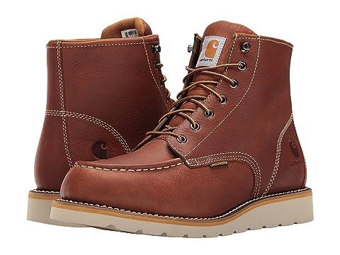 Carhartt Men's CMW6175 6-Inch Waterproof Tan Wedge Soft Toe Work Boot