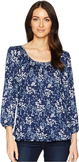 Scatter Blooms Peasant Top