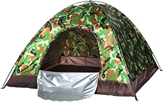 Waterproof windproof ultraviolet-proof outdoor travel camping 3-4people camouflage multifunction rainning proof tent - Bot...