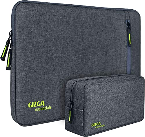 Gizga Essentials Laptop Bag Sleeve Case Cover Pouch for 15-Inch,15.6-Inch Laptop for Men & Women Nylon Fabric (Grey)