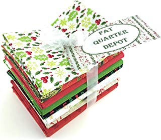 Assorted Christmas Fat Quarters 10 Pieces