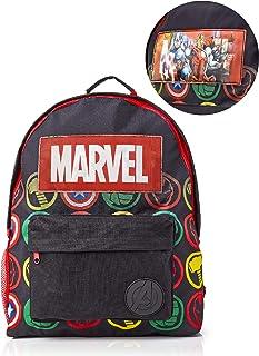 Avengers Mochila Infantil Marvel, Mochila Escolar Holográfica Capitán América Thor Hulk Iron Man para Niños, Mochila Colegio Avengers Infantil Viaje, Fans de la Marvel