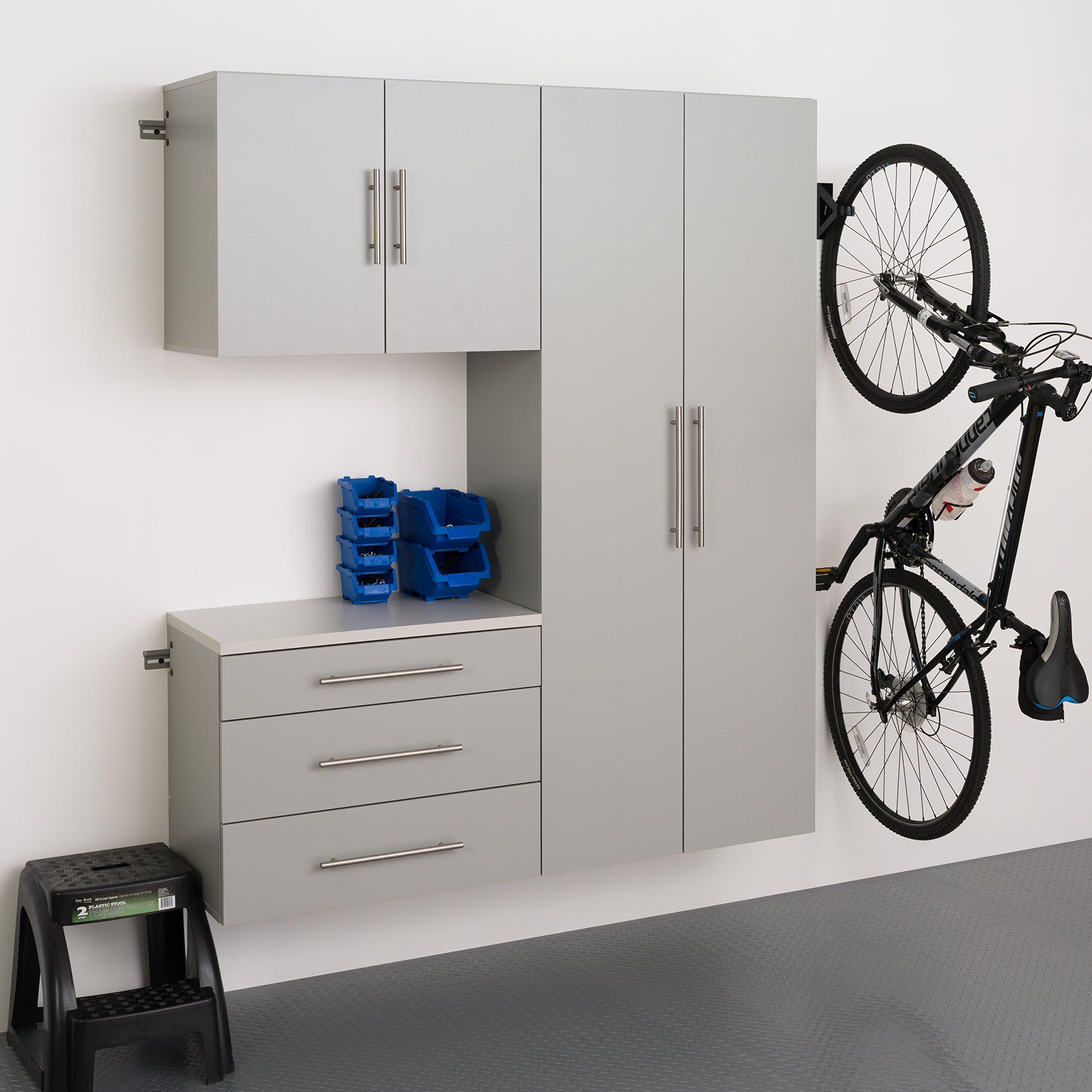 "Prepac HangUps 60"" Storage Cabinet B-3pc, Set B - 3 pc, Light Gray"