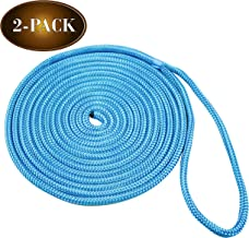 "DC Cargo Mall 2 Marine-Grade Double-Braided Dock Lines | ⅜"" X 15' Double-Braided Nylon Dock Line with 12"" Eyelet 