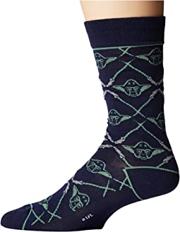 Cufflinks Inc. - Yoda Navy Lightsaber Socks