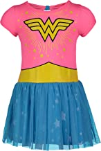 Wonder Woman Toddler Girls' Tulle Dress, Pink and Blue
