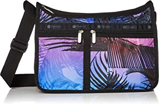LeSportsac Summer Sunrise Deluxe Everyday Crossbody Bag + Cosmetic Bag, Style 7507/Color F653, Unique Abstract Color-block...