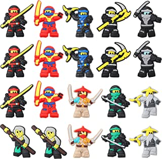 CY2SIDE 20PCS Ninja Shoe Charm for Crocs, Ninja Shoe Decoration Charm for Kids Clog Shoes, Cartoon Bracelet Wristband Char...
