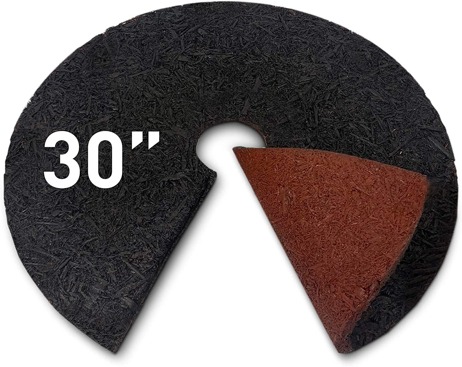 Denver Mall EasyGo Product Double Sided Mulch Natural Ring RubberRing30 Tree Max 82% OFF
