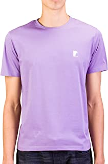 Collection Men Medusa Logo Crew Neck T-Shirt Purple