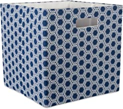 """DII Hard Sided Collapsible Fabric Storage Container for Nursery, Offices, & Home Organization, (13x13x13"""") - Honeycomb Nau..."""