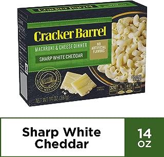 Cracker Barrel Sharp White Cheddar Macaroni and Cheese Dinner, 14 oz Box