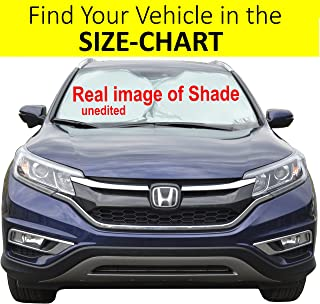 Car Front Window Sunshade Size-Chart for Cars Suv Trucks Minivans Reflector Keeps Your Vehicle Cool Heat Shield XL