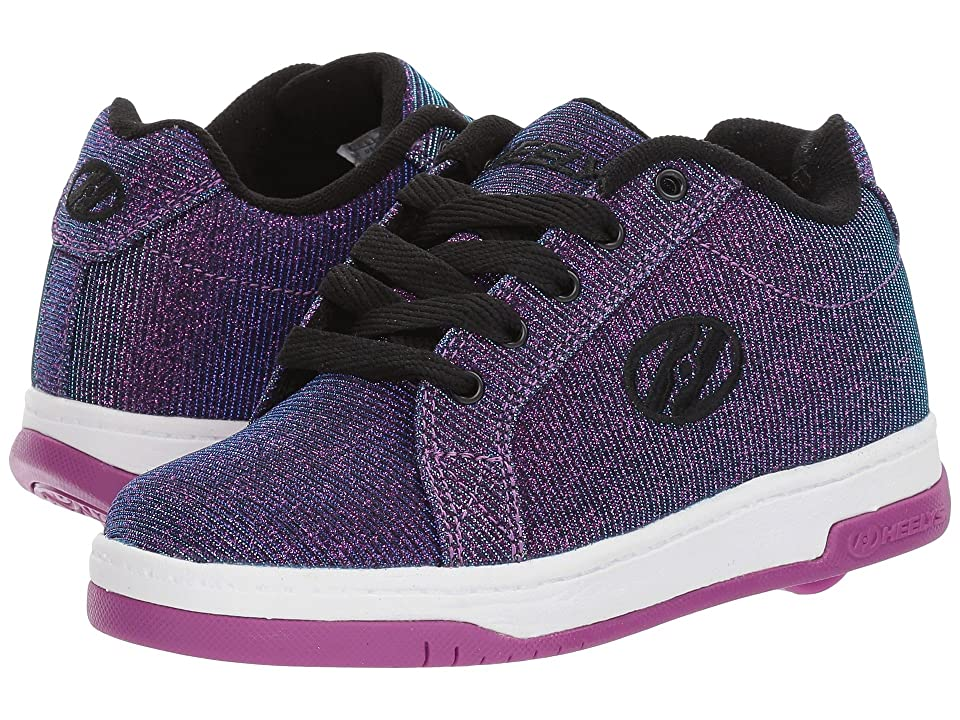 Heelys Split (Little Kid/Big Kid/Adult) (Purple/Aqua Colorshift) Kids Shoes