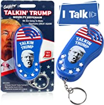 Talking Trump Keychain Funny Gag Sound Machine Toy - 6 Different Sayings in Donald Trump's Real Voice - Classic Quotes in Your Pocket -Sound Effect Unique Political Gift Idea - Batteries Included