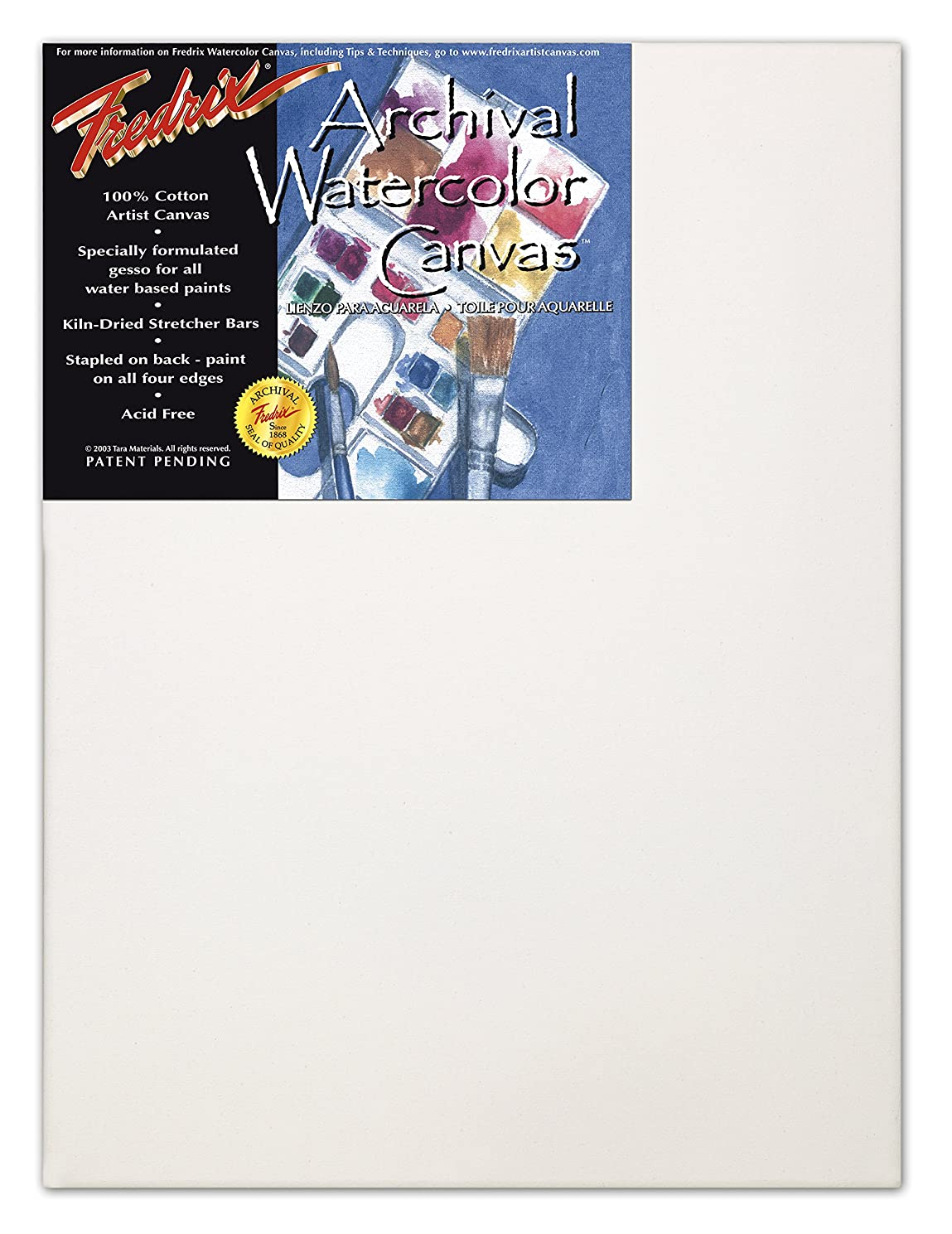 Fredrix 5538 Stretched Watercolor Canvas, 18 by 24-Inch