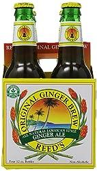 Reed's, Original Ginger Brew Soda, 4-pack, 48 oz