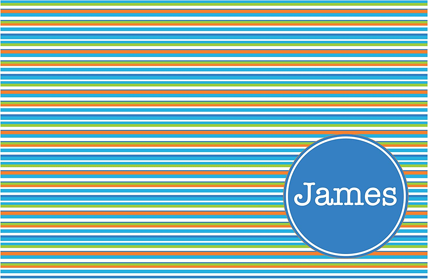 Albuquerque Challenge the lowest price Mall Horizontal Stripes with Personalized Blue Placemat