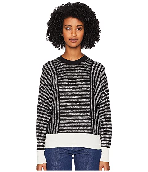 Sonia Rykiel Cotton Silk Mouline Stripes Long Sleeve Sweater