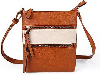 AFKOMST Handytasche kleine Tasche Damen Umhängetasche Weiches Handtaschen Schultertasche Damentasche Damenhandtasche Geldb...