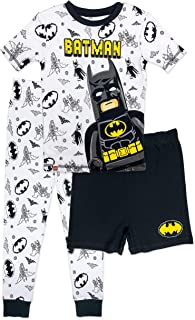 NEW BOYS TWO PACK BATMAN LONG PYJAMAS PJS AND ALL IN ONE  8 TO 9 YEARS