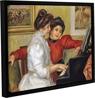 ArtWall Pierre Renoir's Yvonne and Christine Lerolle at The Piano Gallery Wrapped Floater Framed Canvas, 18 x 24