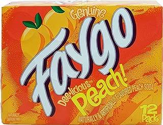 Faygo peach flavor soda pop, caffeine free, 12-pack 12-fl. oz. cans