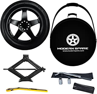 Complete Compact Spare Tire Kit w/Carrying Case -Fits 2015-2019 Cadillac CTS All Trims Including CTS-V - Modern Spare