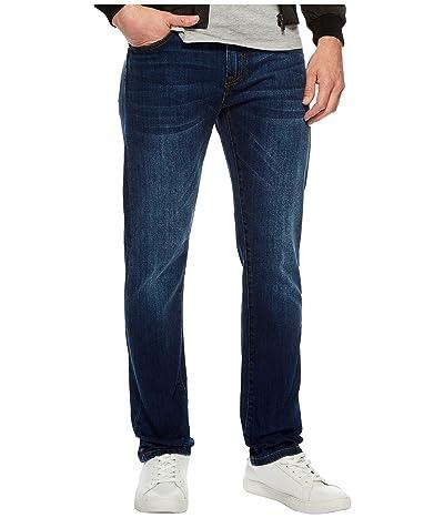 Liverpool Slim Straight Stretch Denim Jeans in Marina Dark (Marina Dark) Men