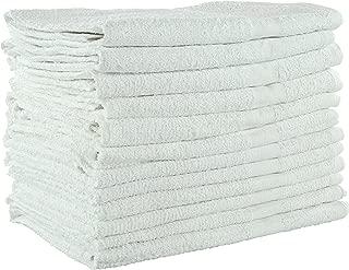 Jmr White Terry 20x40 5lb Economical/Budget Grade Bath Gym Pool Towel,12pk