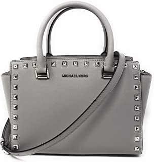 Michael Kors Women's Selma Stud Medium Top Zip Satchel