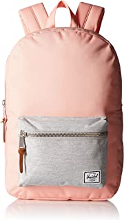 Herschel Supply Co. Settlement Mid-Volume Backpack, Peach/Light Grey Crosshatch, One Size