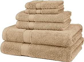 Pinzon - Juego de toallas (algodón egipcio de 725 gramos, 6 unidades), color Driftwood
