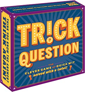 Chronicle Books Trick Question (Trick Question Game, Hygge Games, Adult Card Games for Parties, Adult Board Games for Groups)
