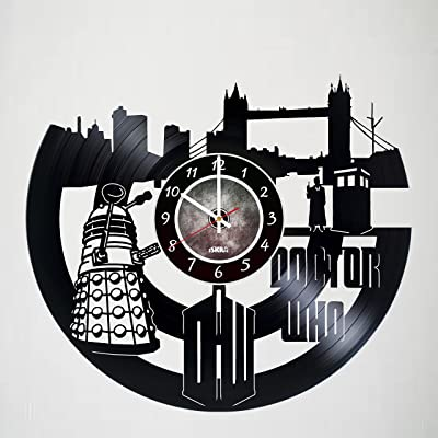 Doctor Who - Vinyl Wall Clock Art Gift Room Modern Record Vintage Decoration - Get unique