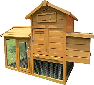 Pets Imperial Clarence Chicken Coop Hen Ark House Poultry Run Nest Box Rabbit Hutch Suitable for Up to 2 Birds Depending on Size - Integrated Run & Cleaning Tray & Innovative Locking Mechanism