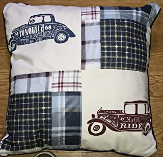 Decorative Cotton CLASSIC CARS / AUTOMOBILES Throw Pillow 20 x 20 x 8 Inches
