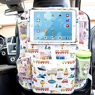 兒童汽車后座椅儲物收納袋 - 大平板電腦架,*大 11.5 英寸 - 非常適合玩具、書籍、零食、飲料 - 基本道路旅行配件 - 也可用作踢墊、座椅靠背?;ぷ爸?                          srcset=