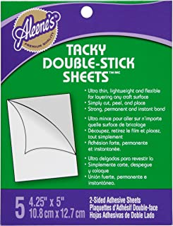 Aleene's Tacky Double Stick Sheets Glue, Pack of 5
