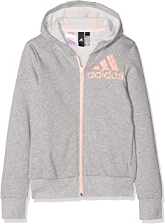 Adidas Yg Graph Fz Hd Hoodie For Girls DJ1418 Grey - 9-10 Years