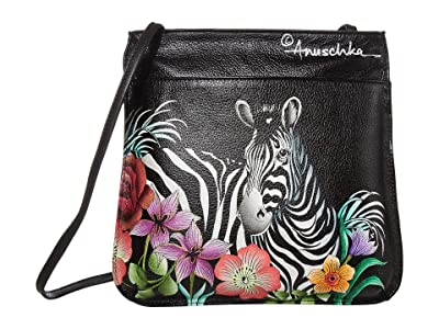 Anuschka Handbags 452 Mini X-Body (Playful Zebras) Cross Body Handbags