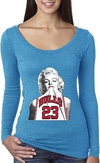 193 - Women's Long Sleeve T-Shirt Marilyn Monroe Bulls 23 Jordan Jersey