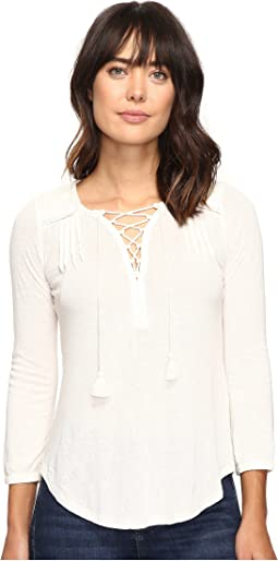 Lucky Brand Lace Front Peasant