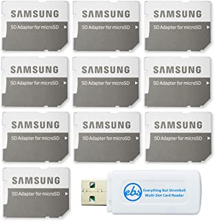 Samsung Micro to SD Memory Card Adapter (Bulk 10-Pack) Bundle with (1) Everything But Stromboli Micro & SD Card Reader