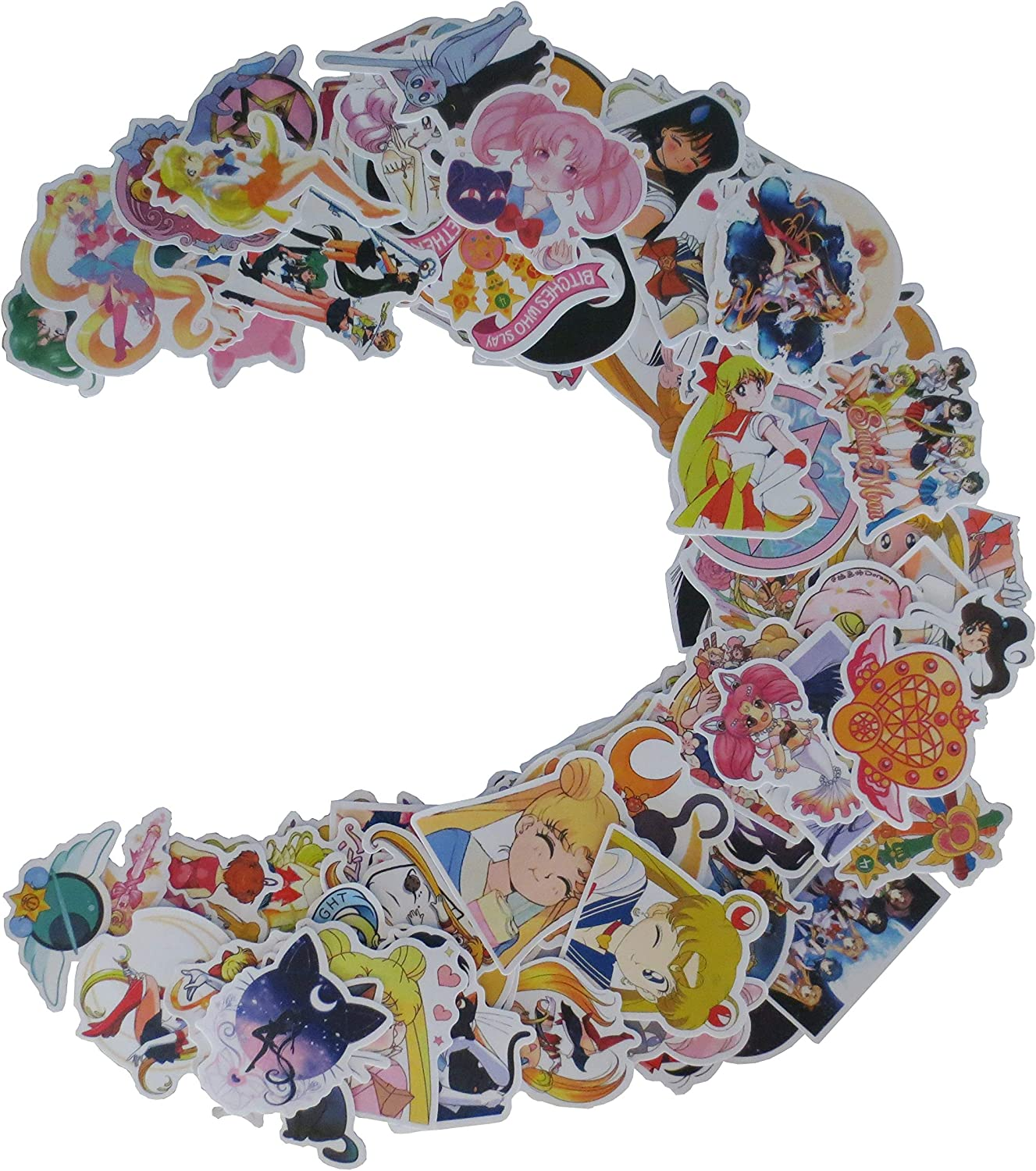 100PCS Sailor Moon Stickers for Water Bottles,Classic Japanese Cartoon Anime...