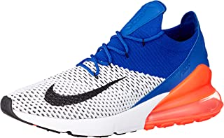 Air Max 270 Flyknit Mens Running Trainers AO1023 Sneakers Shoes (UK 9 US 10 EU 44, White Racer Blue 101)